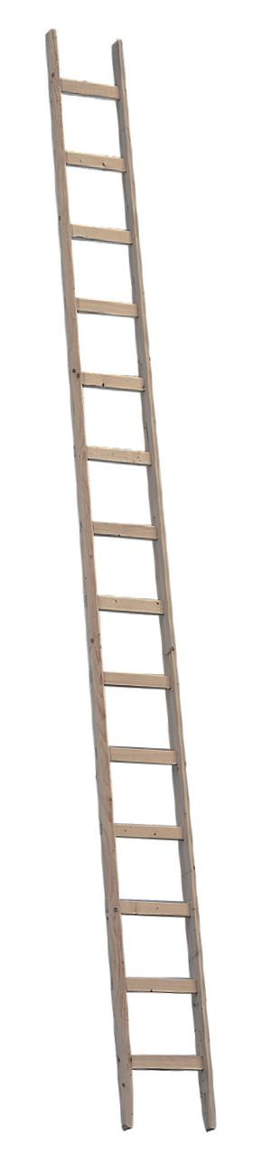 Viengubos medinės statybininkų kopėčios 1036 ilgis 4,00m 1