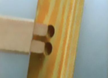 Viengubos medinės kopėčios 1052 ilgis 2,45m 4