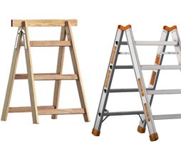Darbinės platformos, mediniai laipteliai
