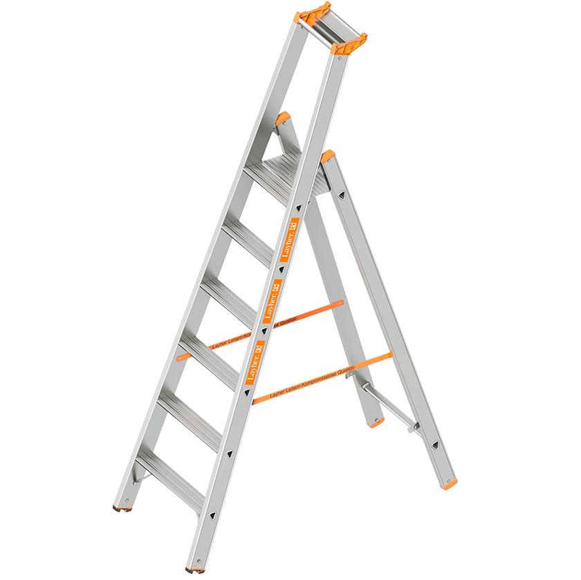 Dvigubos pristatomos kopėčios, skirtos lipti iš vienos pusės TOPIC 1064 1