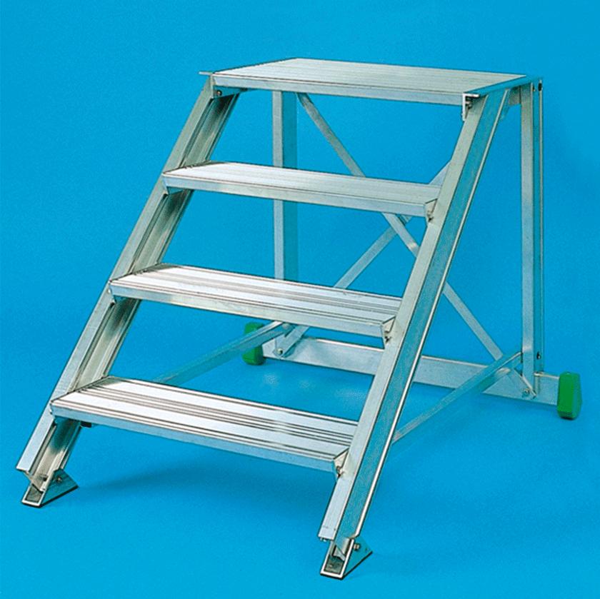 Alu stacionarūs arba kilnojamieji pristatomi laiptai 110 1
